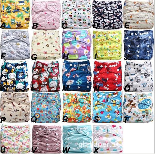 Free Shipping Babyland Environmental Baby Diapers Colorful Snap Buttons 10Diapers + 10Inserts In One Lot Baby Nappies Sale Price