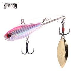 Kingdom Fishing Hard Lead Lure 5 Sizes Sinking VIB Wobblers Soft Body Design With Spinning Spoon Aftificial Decoy Model 3520B