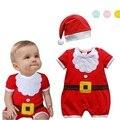 Macacão de natal do bebê recém-nascido menino romper vestuário infantil recém-nascido roupas de natal do bebê bebe ano novo fantasias para crianças