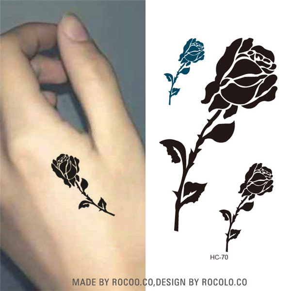 Us 0 3 25 Off Hc1070 Women Sexy Chest Hand Fake Tattoo Stickers Rose Flowers Pattern Men Covering Scars Waterproof Temporary Tattoo Stickers In