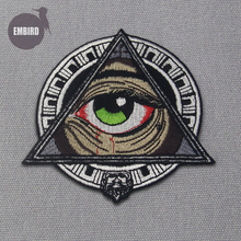 Embird patches Embroidered patches to sew on Mayan Geometric Patterns Eye ceo-friendly 3D embroidery appliques for clothes patch