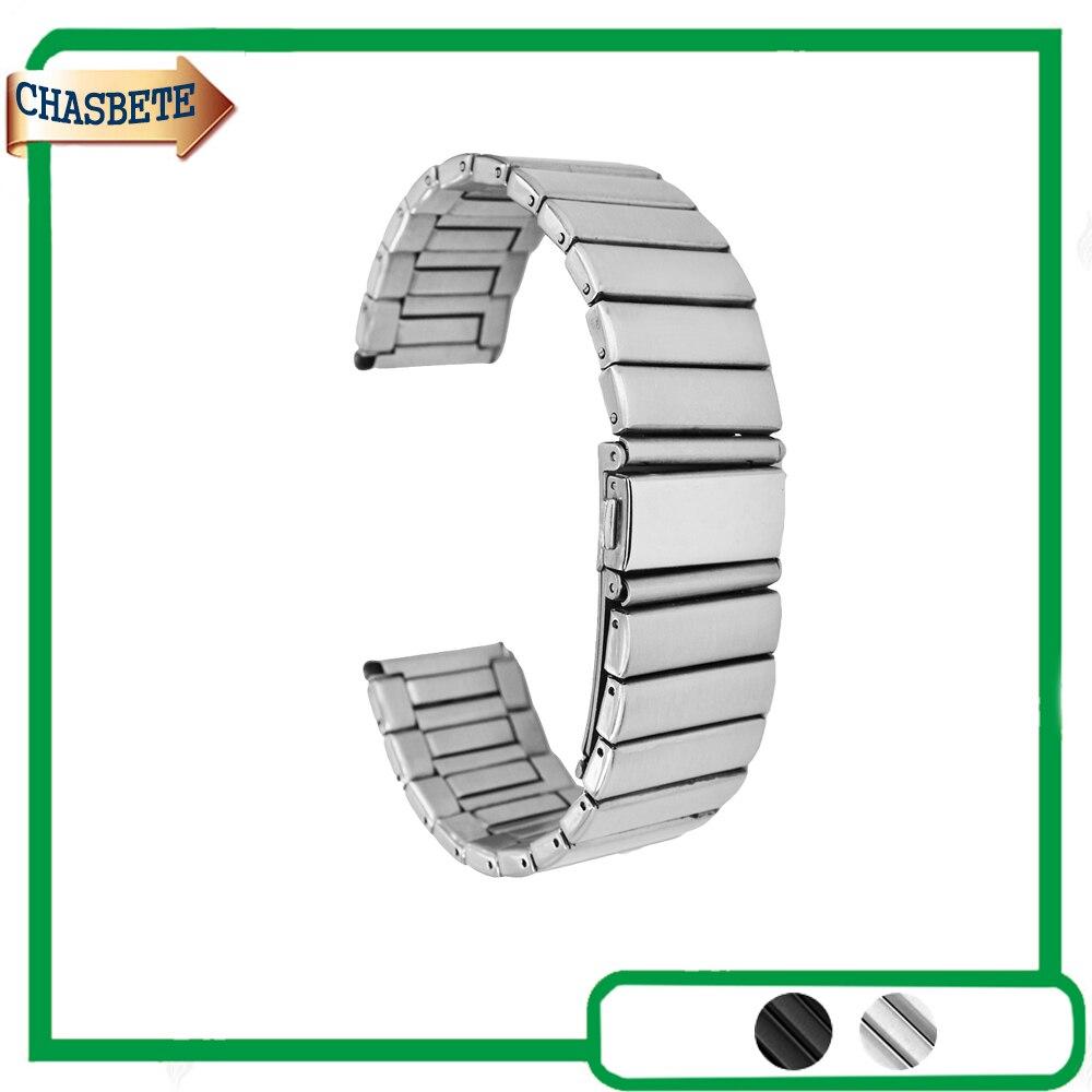 Inoxydable Montre En Acier Bande pour Suunto Core Bracelet 24mm Bracelet En Métal ceinture Boucle De Poignet Bracelet Noir Argent + Outil + Printemps Bar