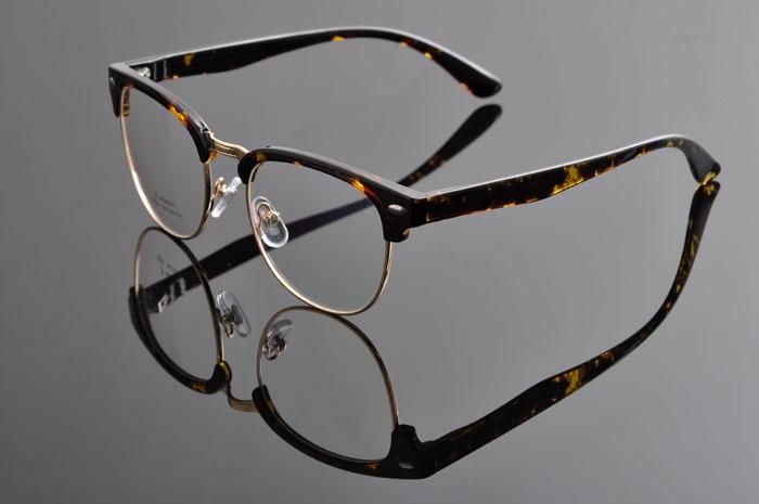 DEDING Винтаж очки с круглыми линзами в стиле унисекс очки ботаника очки в оправе вогнуто-Выпуклое стекло, de vue oculos de grau с чехлом ткань DD0883 - Цвет оправы: leopard