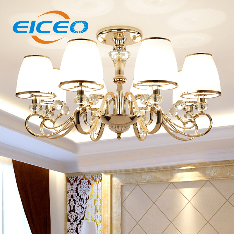 (EICEO) Modern Simple Lamp Atmosphere Restaurant Bedroom LED Ceiling Lamps Crystal European Living Room Pendant Light Lighting vemma acrylic minimalist modern led ceiling lamps kitchen bathroom bedroom balcony corridor lamp lighting study