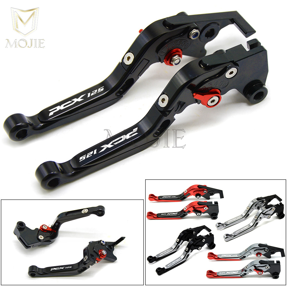 PCX125 Logo For Honda PCX 125 ALL Year Motorcycle Accessories CNC Aluminum Adjustable Folding Extendable Brake Clutch Levers