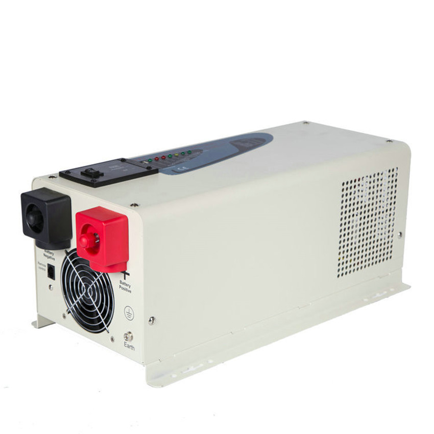 Onduleur à onde sinusoïdale Pure 2000 W DC aux onduleurs de courant alternatif, puissance de crête de 6000 watts, onduleur de système solaire de vent hors réseau