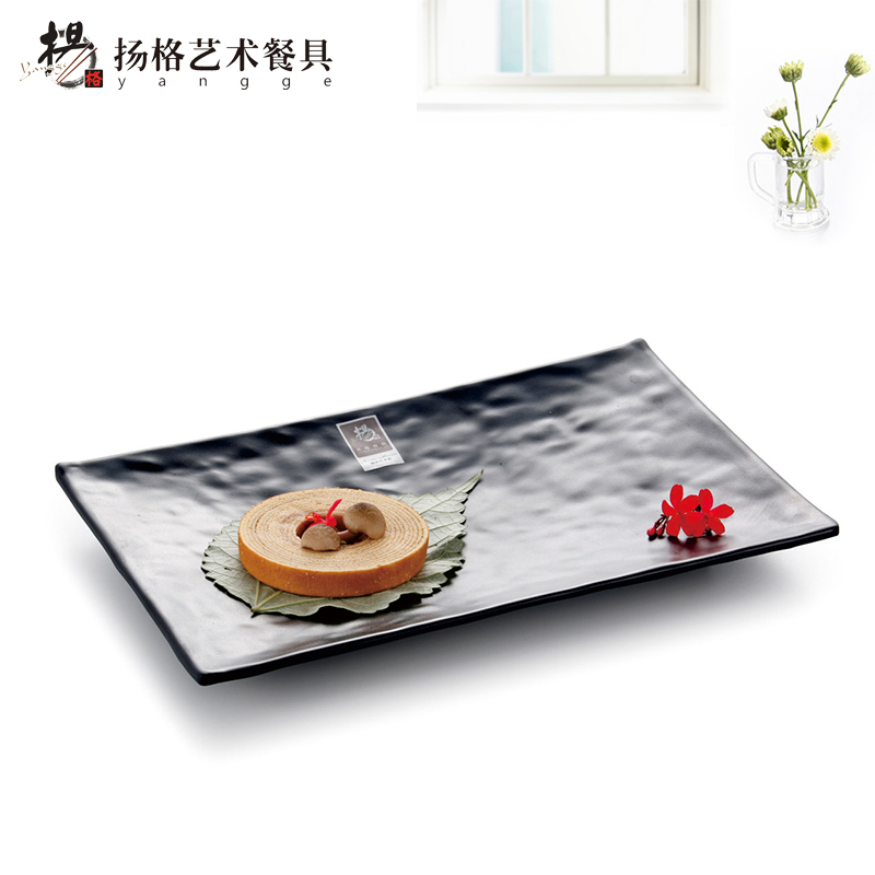 8INCH Fashion Black Rectangular Dinner Plates Outdoor Disposable Melamine Dinnerware Plastic Black Hotel Sushi Serving Plate-in Disposable Plates from Home ...  sc 1 st  AliExpress.com & 8INCH Fashion Black Rectangular Dinner Plates Outdoor Disposable ...