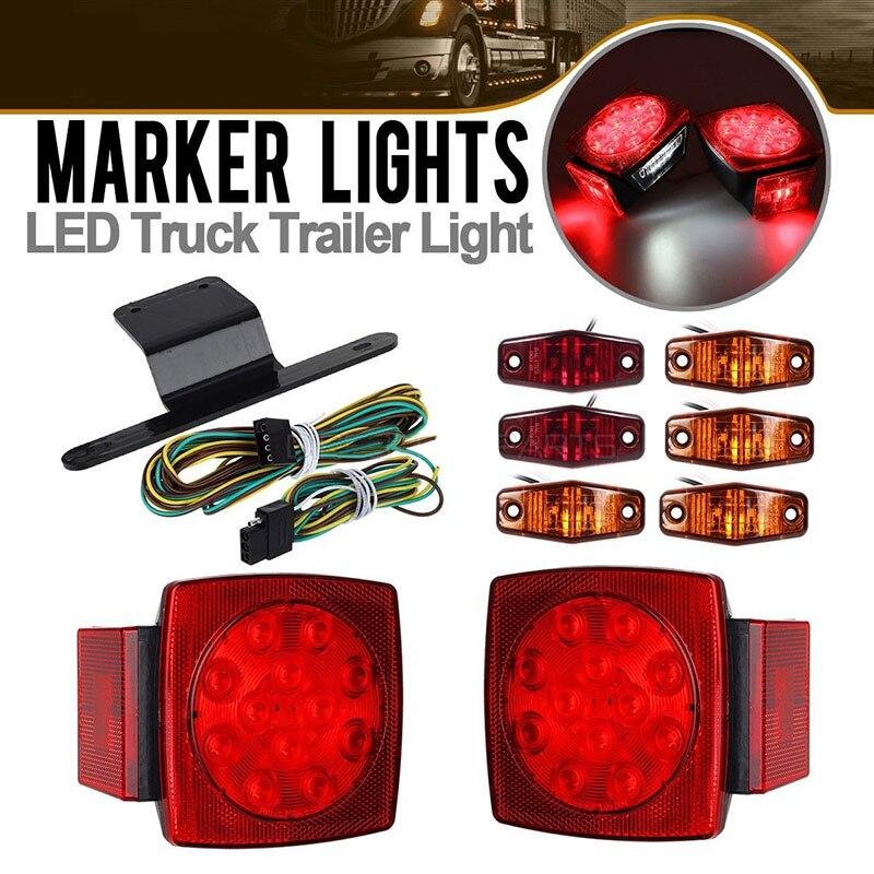 2X kit d'éclairage LED camion remorque queue arrêt tour frein côté marqueur lampe étanche