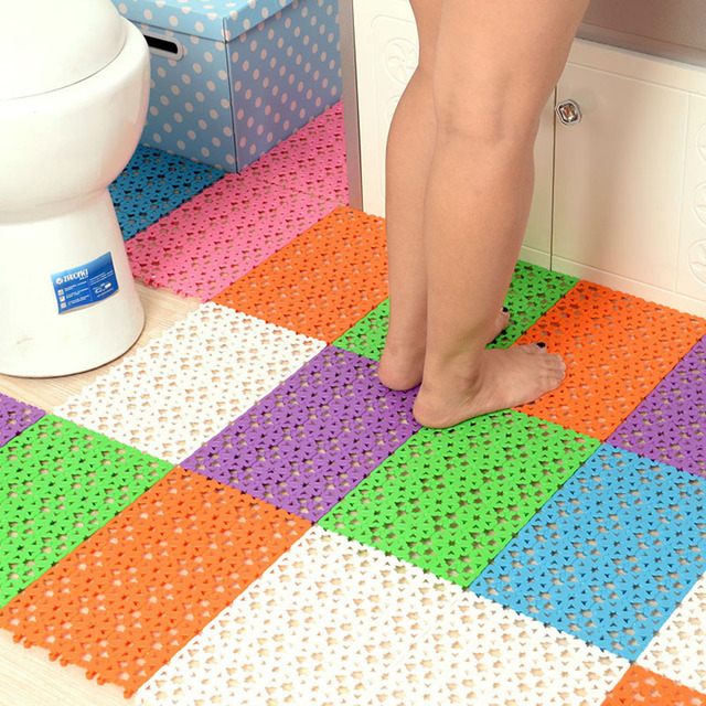 30*20cm Non Slip Rubber Floor Mats Bathroom Carpet Plastic Bath Mat Tapete  De