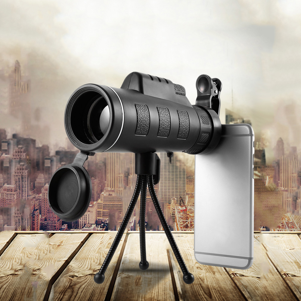 Binoculars 40X60 HD Mini Night Vision Prism Monocular font b Telescope b font with Phone Clip