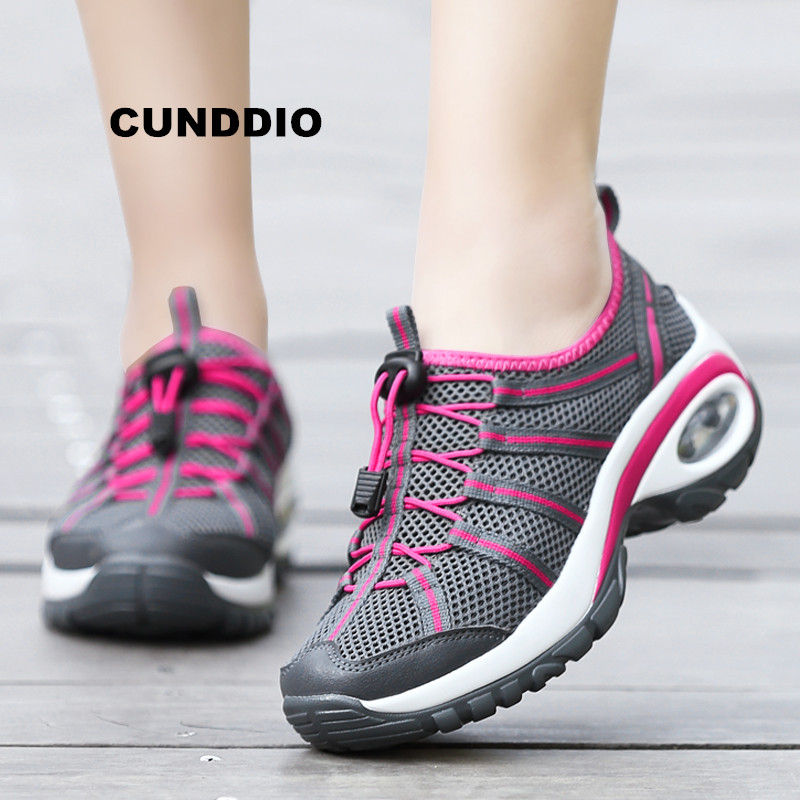 2018 shoes woman outdoor sneakers women casual wedges shoes for women Air damping Breathable mesh zapatos mujer tenis feminino 2018 autumn sneakers women breathable mesh running shoes damping sport shoes woman outdoor blue walking zapatos de mujer betis