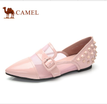 Camel flats women's camel shoes 2016 fashionable casual shoes comfortable casual single shoes