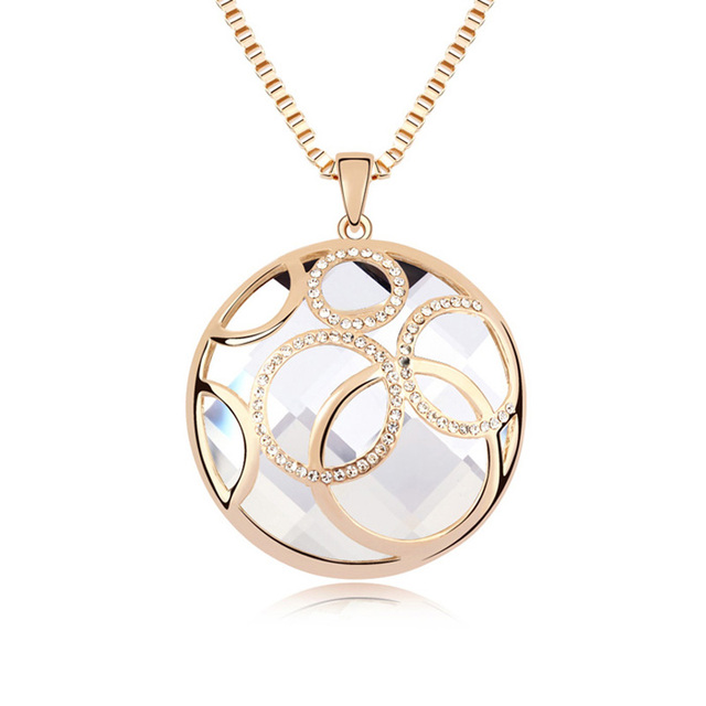 Crystal Circle Pendant