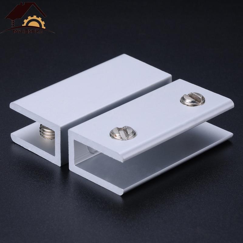 Sourcingmap soportes para estante de vidrio abrazadera de vidrio de aleaci/ón de zinc ajustable para 5 tipo 06 8 mm de grosor