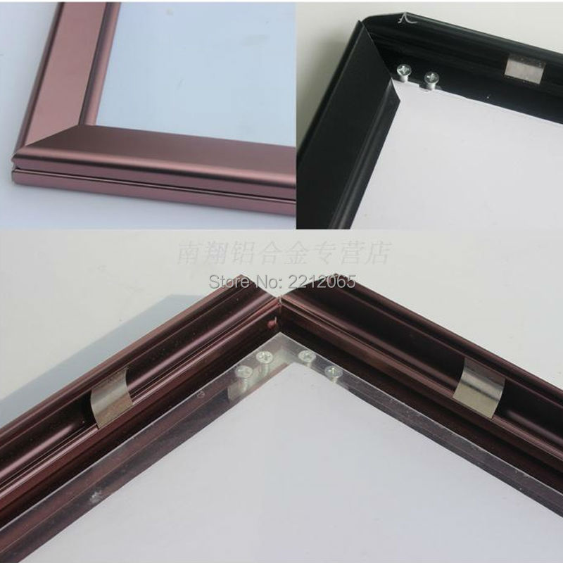 5units/Lot) Wall Mounted Metal Aluminium Snap Frames, Front Loading ...