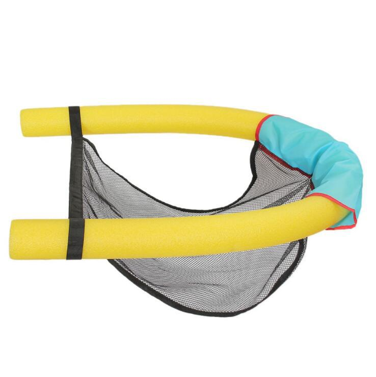 1PC Polyester Floating Pool Noodle Net Sling Mesh Float Chair Net For Swimming Pool Party Kids Adult Bed Seat Water Relaxation in Swimming Rings from Sports Entertainment
