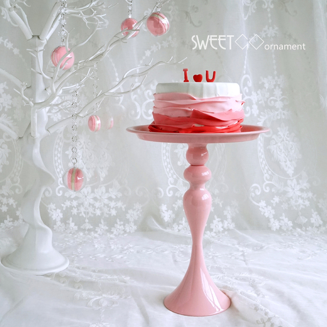 Pink Princess Girl Birthday Party Cake Stands Wedding Cake Plate Tall Stand Cake Fruits Placed Tool & Pink Princess Girl Birthday Party Cake Stands Wedding Cake Plate ...