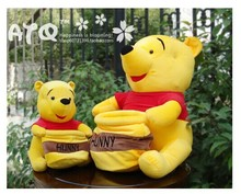 big cute happy bear plush toy little bear toy wih pocket birthday gift about 50cm