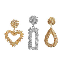 Big Geometric Fashion Statement Earrings Women Jewelry Hanging Dangle Earrings Drop Earing цена