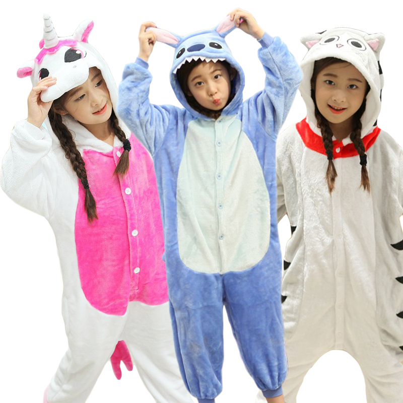 Enfants Animaux Onesie Licorne Pyjamas Pour Enfants Kigurumi Bébé Traverses Panda Licorne Halloween Salopette Fille Garçon Pijama Salopette