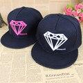 Free shipping Spring summer baseball cap diamond flat brim caps hiphop girls summer male cap benn super flat man cap