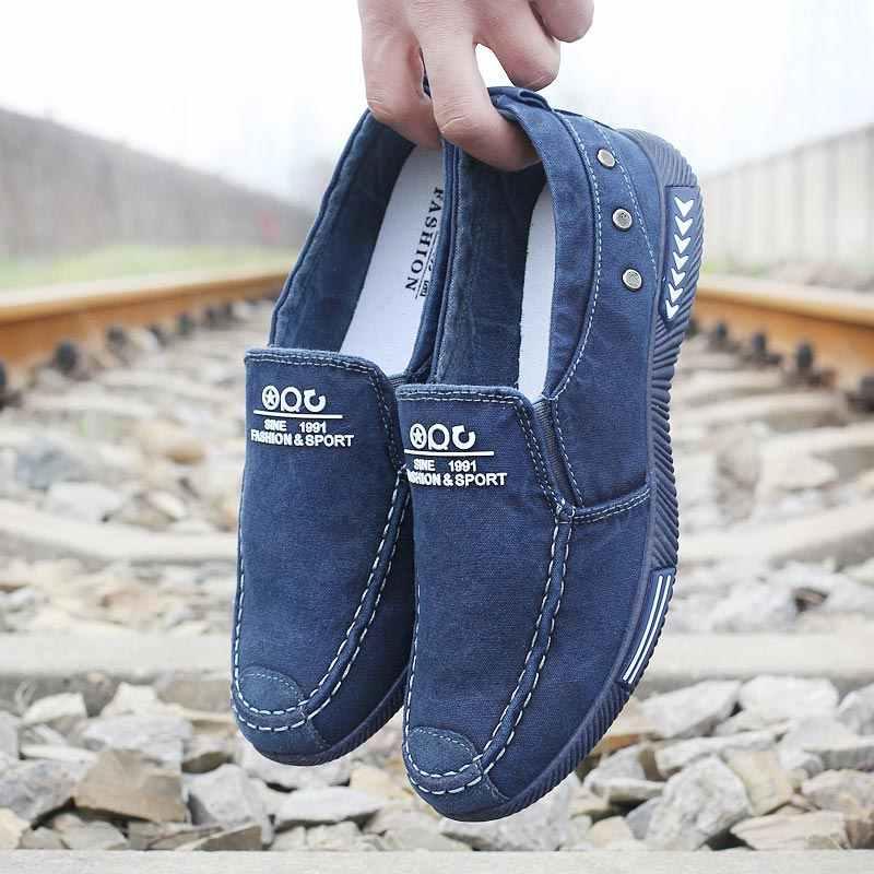 Erkekler rahat ayakkabılar kanvas ayakkabılar erkekler Chaussure Homme sonbahar kış sıcak nefes ayakkabı erkekler moda Sneakers adam yürüyüş ayakkabısı