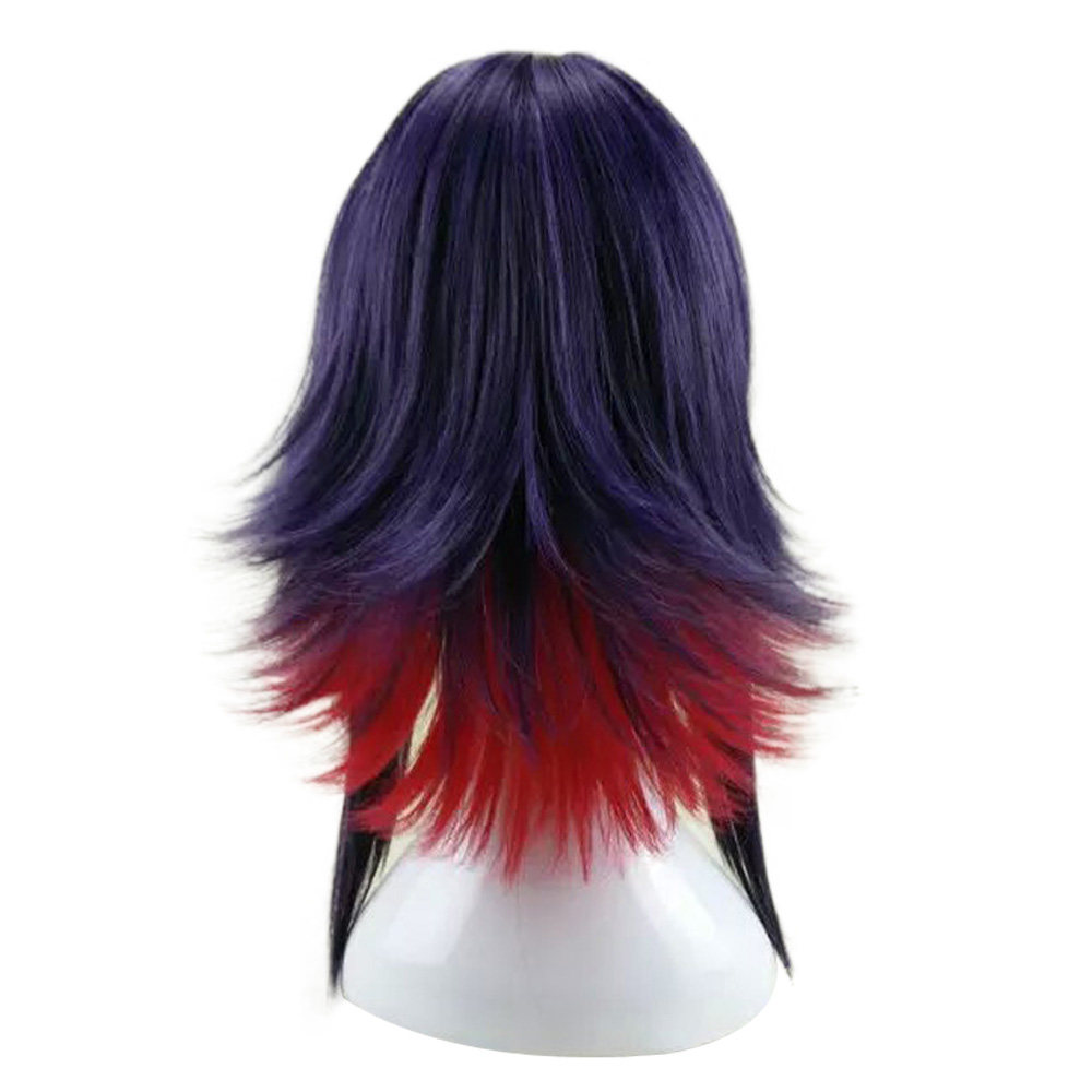 HAIRJOY  Synthetic Hair Purple Blue Mixed Red Cosplay Wig Straight Ombre Costume Wigs 2 Colors Available 15