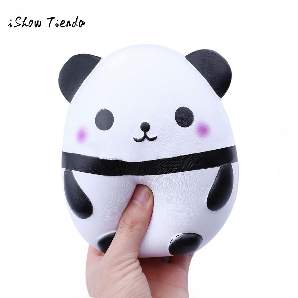 ISHOWTIENDA Jumbo Panda Kawaii Cream Scented Squishies mochi Squishy Slow Rising Kids Toys Doll Fun Stress Relief Toy squeeze