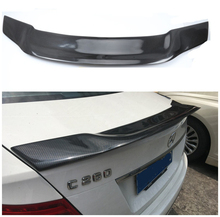 Mercedes W204 Renntech Style Spoiler Carbon Fiber R For Benz C300 C180 C220 2007 - 2013 4 Doors Sedan C Class