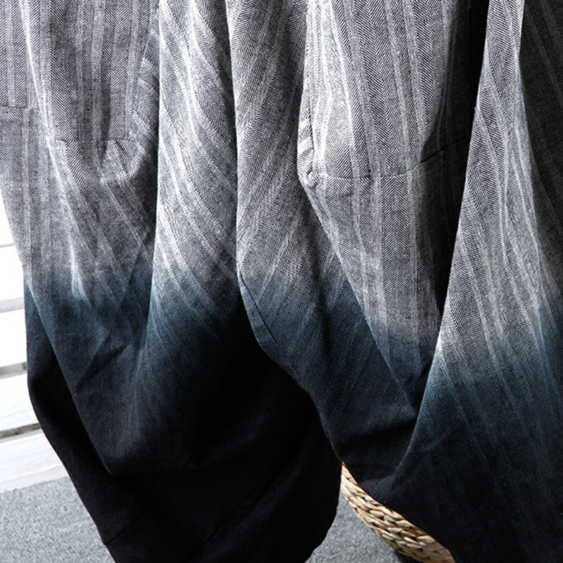 Gwy1250 Taille Pleine Longueur 2018 De Femelle Élastique hg Pantalon See Mode Picture Rayé D'été Corée Lâche Plissé Occasionnel Large Jambe TwqXS