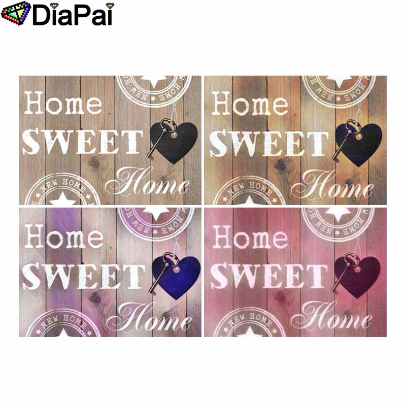 """DIAPAI 5D DIY Diamond Painting 100% Full Square/Round Drill """"Text landscape"""" 3D Embroidery Cross Stitch Home Decor"""