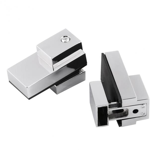 2pcsset ftype glass clamp zinc alloy adjustable wall mount floating shelf brackets