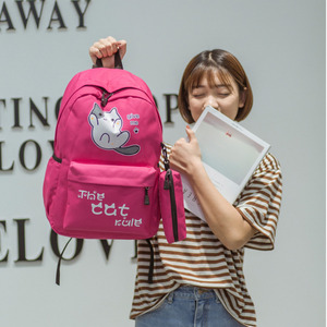 Image 5 - Oyixinger öğrenciler kız çocuk okul çantası kampüs tarzı sevimli kedi çocuk sırt çantası Schoolbag naylon sırt çantası karikatür sırt çantası Mochila Feminina