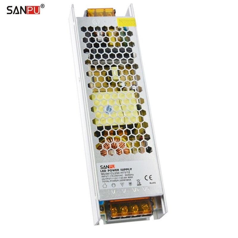 где купить SANPU SMPS 12V LED Power Supply Unit 300W 25A AC to DC Lighting Transformer Slim Driver 12VDC Converter Fanless for Indoor LEDs дешево