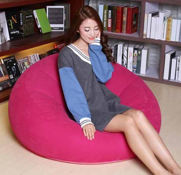 105*28*65 cm Confortável Reunindo sofá Inflável Um Convés assento da cadeira sofá de Lazer com bomba de ar elétrica