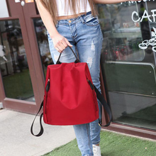GLHGJP Fashion Anti-theft Women Backpack Waterproof Nylon Female Bagpack Casual Travel Bag Preppy Style School Bag For Girls 2018 female backpack genuine leather and nylon material preppy style one shoulder bag casual school bag