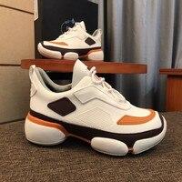 Брендовая мужская спортивная обувь; Новинка 2019 года; дышащая удобная Легкая сетчатая повседневная мужская обувь