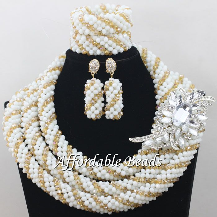 New African Ladies Jewelry Set Best Nigerian Wedding Necklace Best Design Handmade Item NCD085New African Ladies Jewelry Set Best Nigerian Wedding Necklace Best Design Handmade Item NCD085
