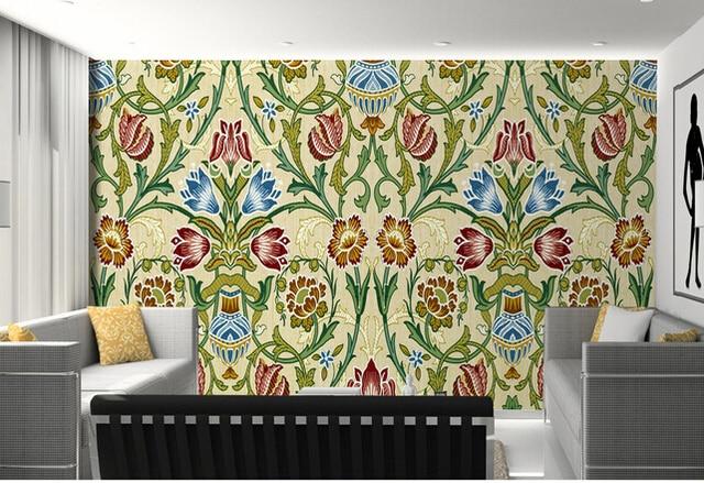 Benutzerdefinierte großes wandbild, schöne orchideen muster moderne ...