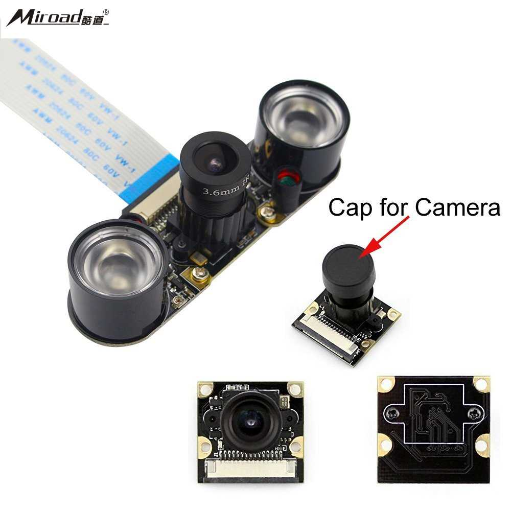 Miroad for Raspberry PI Camera Module 5MP 1080p OV5647 Sensor HD Video Webcam Supports Night Vision SC15