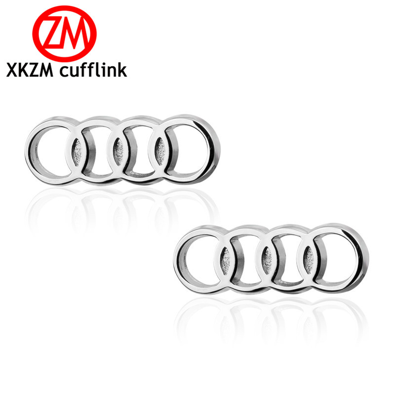 XKZM Luxury shirt silver round car cufflink for mens Brand cuff buttons cuff links High Quality abotoaduras Jewelry