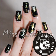 New Stamping Plate hehe11 Metallic Style Gear Wheel Nail Art Stamp Template Image Transfer Stamp