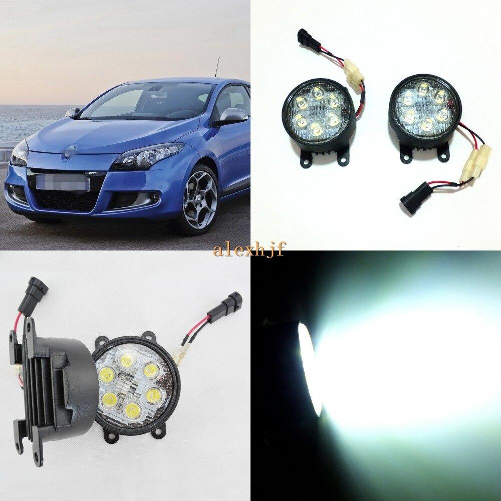 July King 18W 6LEDs H11 LED Fog Lamp Assembly Case for Renault Megane 2002~2012 etc, 6500K 1260LM Daytime Running Lights