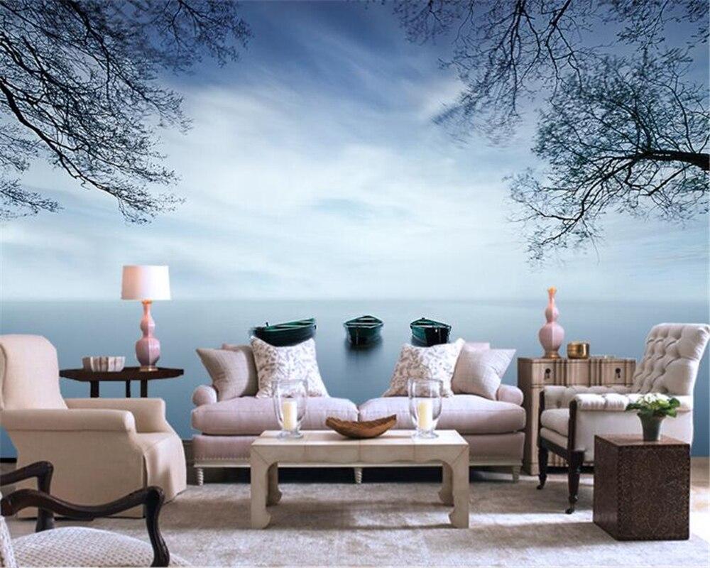 Muurschilderingen Voor Slaapkamer : Beibehang custom d behang landschap muurschilderingen woonkamer