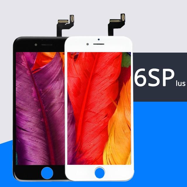 """Pantalla LCD para IPhone 6S plus, 100% """", montaje de digitalizador, envío gratuito por DHL, sin píxeles muertos"""