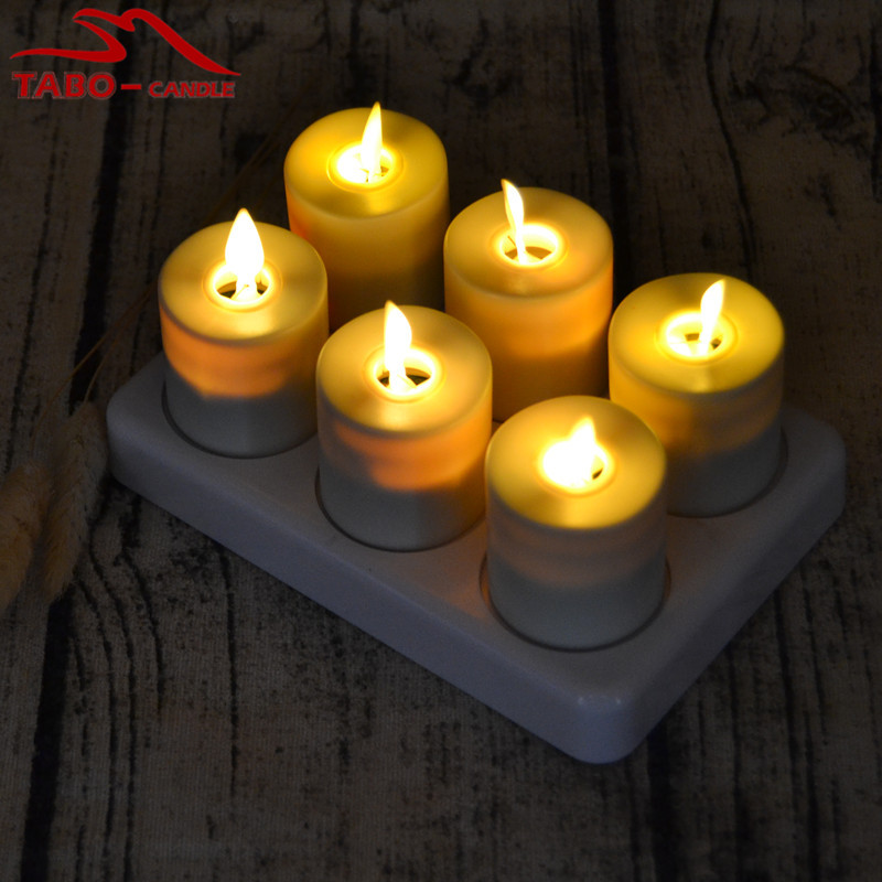 luminara flameless tealight candle rechargeable tea light with remote. Black Bedroom Furniture Sets. Home Design Ideas