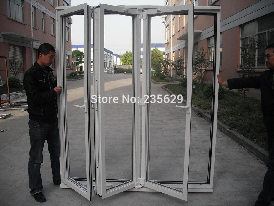 Aluminium Folding Door For Sale Double Glazing Aluminum Folding