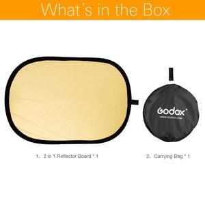 Image 2 - Портативный Овальный многодисковый отражатель Godox 2 в 1 100x150 см, складной рассеиватель света для фотостудии, фотокамеры