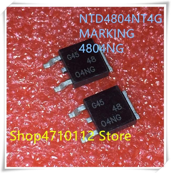 NEW 10PCS/LOT NTD4804NT4G  30V 14.5A  4804NG  48 04NG TO-252 IC