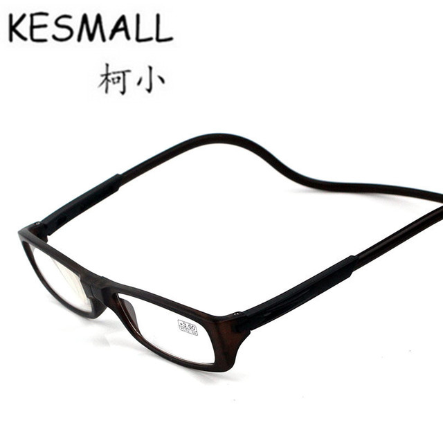 e9bb381ae26 KESMALL 2018 Magnetic Reading Glasses Men Women Folding Reader Glasses Neck  Hanging Fashion Eye Glasses Lentes De Lectura YL197